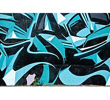 Abstract Blue Graffiti Photographic Print