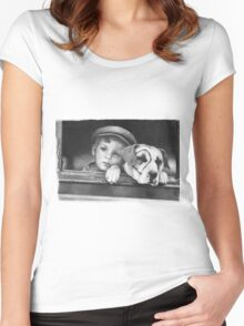 Dickey Moore and Petey Women's Fitted Scoop T-Shirt