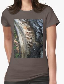 Tree Trunk Torn By the Storm Womens Fitted T-Shirt
