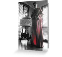 Me posing as Gustav Klimt Greeting Card