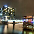 Düsseldorf by night by astrolabio