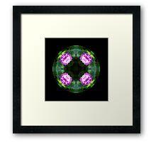 Pink Hydrangea Kaleido Framed Print