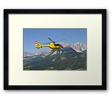 Rescue in the Alps Framed Print