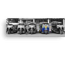 Blue Tuk Tuk Panorama Canvas Print
