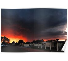 Sunset Storm - Moree Poster