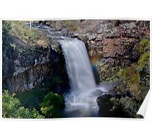 Paddys River Falls, Rainbow on the Side #2 Poster