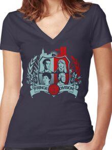 Fringe Division Crest  Women's Fitted V-Neck T-Shirt