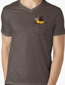 dunble bee shirt pocket design Mens V-Neck T-Shirt