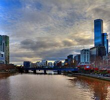 Southbank, from the Princes Bridge. by Barbara  Glover