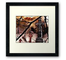 Sing Your Song Darkly Framed Print