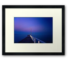 Winter at Beachport Jetty, Beachport Framed Print