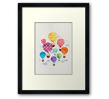 Hot Air Balloon Framed Print