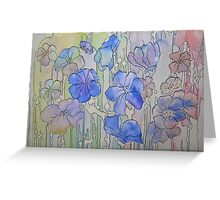 Floral Watercolour Collage  Greeting Card