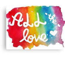 all the love Canvas Print