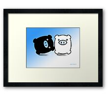 TWIN PIGS  Framed Print