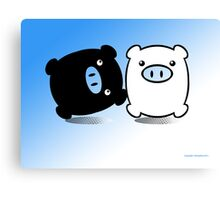 TWIN PIGS  Canvas Print