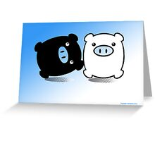 TWIN PIGS  Greeting Card