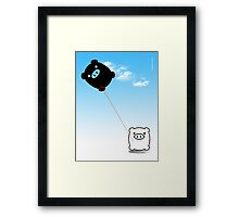TWIN PIGS KITE Framed Print