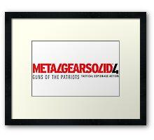Metal Gear Solid 4 Mug Framed Print