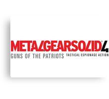 Metal Gear Solid 4 Mug Canvas Print