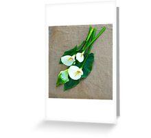 Calla Lilies... Greeting Card
