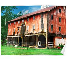 Beautiful Red Barn  Poster