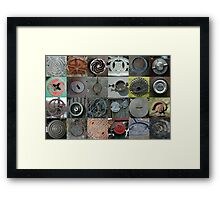 Metal Circles Framed Print