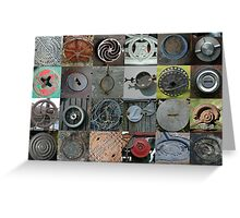 Metal Circles Greeting Card