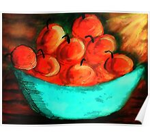 Bowl of Apples #2, watercolor Poster