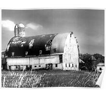 Grand Old White Barn  Poster