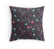Fantasy flowers pattern Throw Pillow
