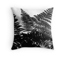 Fern Fronds Against the Sky Throw Pillow