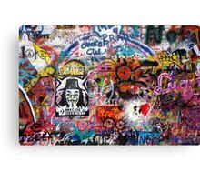 Lennonova Zed (Lennon Wall) Canvas Print