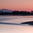 Fraser River sundown by Jean Poulton