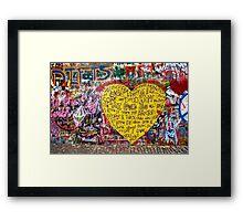 Jonnanova Zed (Jonh Lennon's wall) Framed Print