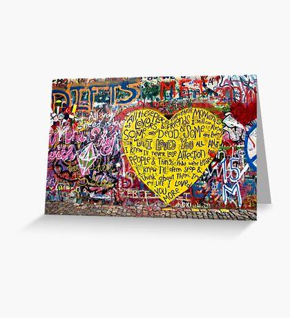 Jonnanova Zed (Jonh Lennon's wall) Greeting Card