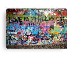 Lennonova Zed (John Lennon's wall) Canvas Print