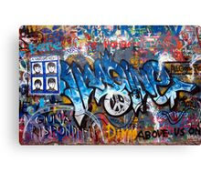 Lennonova Zed (Jonh Lennon's wall) Canvas Print