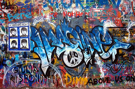 Lennonova Zed (Jonh Lennon's wall) by Manuel Gonçalves