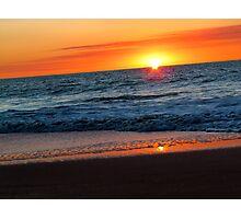 *SunStruck* ~ Beach At Sunset...Mandurah, Western Australia Photographic Print