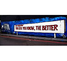 DJ Shadow Street art Photographic Print