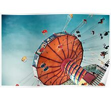 """Navy Pier Old Fashioned """"Wave Swingers"""" Poster"""
