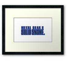 Metal Gear 2 : Solid Snake Mug Framed Print