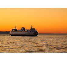 Washington State Ferry Photographic Print