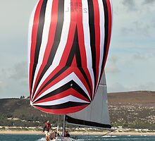 Under Full Sail off Abersoch, North Wales by Chris Monks