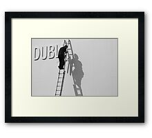 Dubli-N man on ladder Framed Print