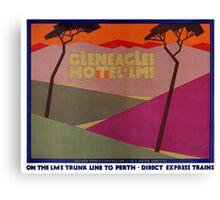 Rare Gleneagles Vintage Travel Poster Restored Canvas Print