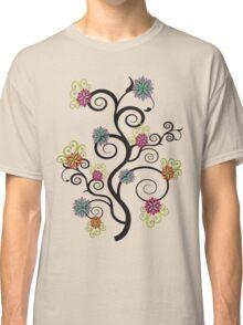 Swirly Flower Tree Classic T-Shirt