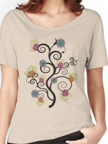 Swirly Flower Tree Women's Relaxed Fit T-Shirt