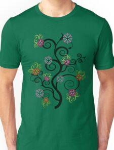 Swirly Flower Tree Unisex T-Shirt
